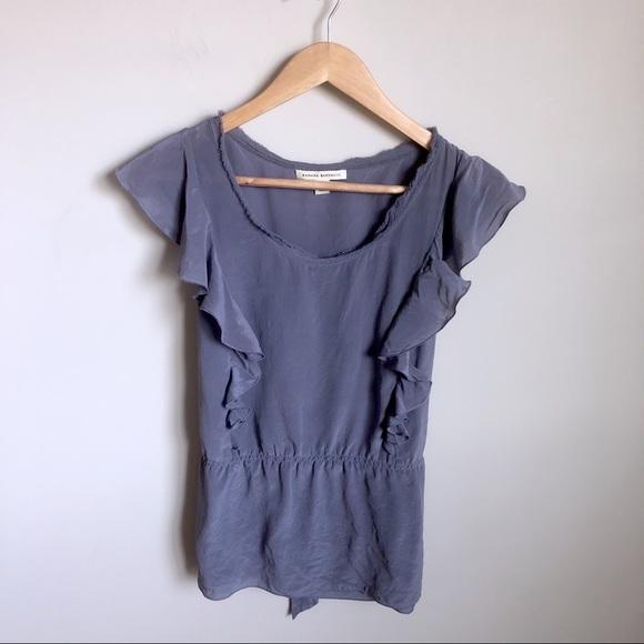 18009c4e28becc Banana Republic Tops - 5/$25 🛍 Banana Republic lilac silk ruffle blouse